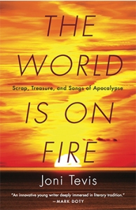 Joni Tevis' nonfiction collection The World Is on Fire is a collection for a future culture, with references to atomic bombs, Buddy Holly, the Alaskan wilderness, Liberace, and that old time religion.