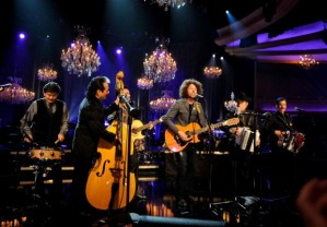 "Rage Against the Machine's Zach de la Rocha appeared onstage with Los Tigres del Norte on their song ""Somos Más Americanos"" for a MTV Unplugged special."